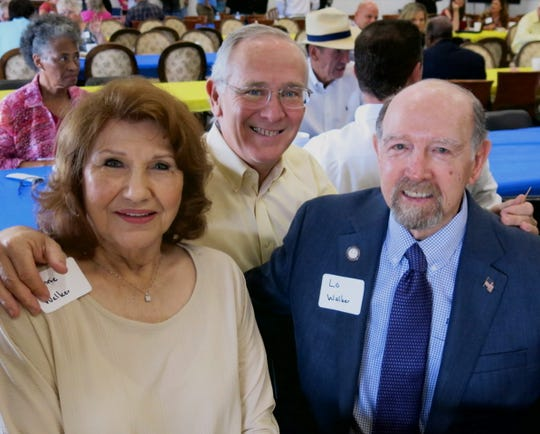 "First Lady of Bossier City Connie Cash Walker and hubby, Bossier City Mayor Lo Walker, flank Craig Spohn at ""The Foster Closet"" fund raiser."