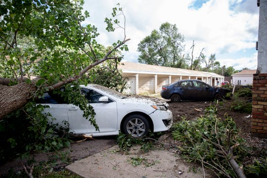 After three tornadoes touched down in Sioux Falls,  clean up on Thursday, Sept. 12, 2019.