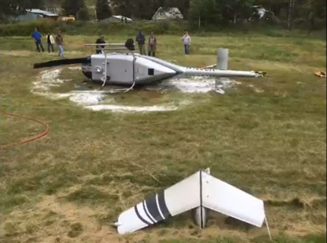 Hill City firefighters responded to a helicopter crash west of Hill City Thursday, Sept. 12.