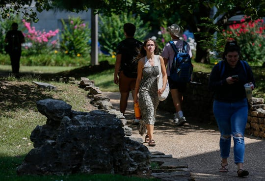 Students walk on campus at Missouri State University on Thursday, Sep. 12, 2019, in Springfield, Mo. Springfield was recently named a top city to live in for Generation Z.