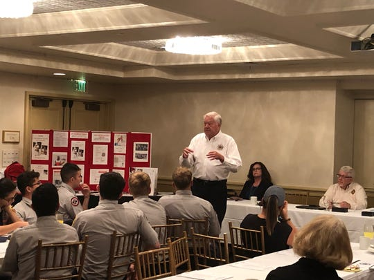 Indian River County Emergency Services Director and Fire Chief Tad Stone discusses the importance of emergency preparedness during the Prepare, Respond, Recover Seminar Sept. 12, 2019 at DIsney's Vero Beach Resort in Wabasso.
