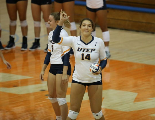 Irbe Lazda is a freshman outside hitter and middle blocker for the UTEP volleyball team