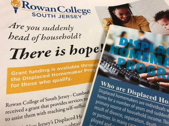 Rowan College of South Jersey is offering job training and emotional support to those suddenly pushed into a breadwinner role.