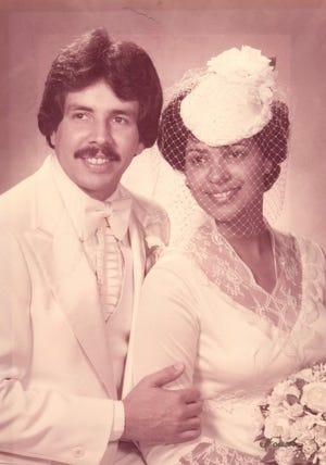 Dave and Julia Lara on their wedding day.