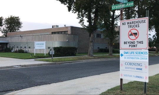 This Gerresheimer Glass Inc. property on Crystal Avenue in Vineland is one of two lots Corning Pharmaceutical Glass is interested in acquiring.