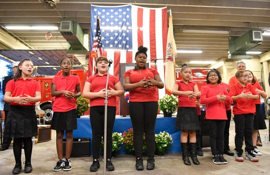 The Marie Durand Elementary School choir took part in the City of Vineland Patriot Day Ceremony on Wednesday, September 11, 2019.