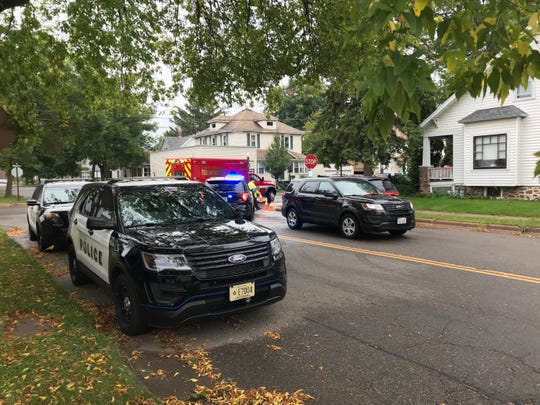 "Wausau police respond to a ""weapons-related incident"" Thursday, Sept. 12, 2019, in the 700 block of Thomas Street."