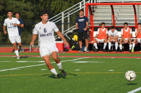 Byram Hills senior Bryan Roden helped keep Somers off the board in the first half and set up a number of scoring chances with strong throw-ins on Sept. 11, 2019 at Somers High School.