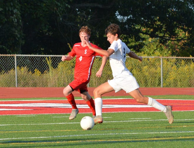 Byram Hills sophomore Nico Bisgaier scored back-to-back goals in the second half to give the Bobcats a 4-0 lead over Somers on Sept. 11, 2019 at Somers High School.