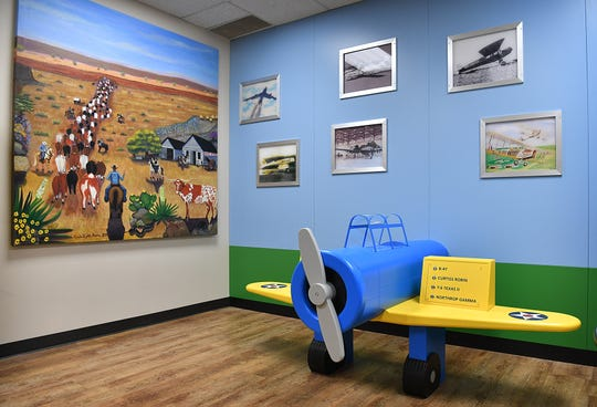 The new childrens exhibit at the Museum of North Texas History features interactive displays about military aircraft, the old cattle trail, oil and gas, and the railroad.
