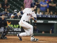 Astros outfielder Kyle Tucker hit 34 homers and stole 30 bases at Class AAA this season before being promoted.