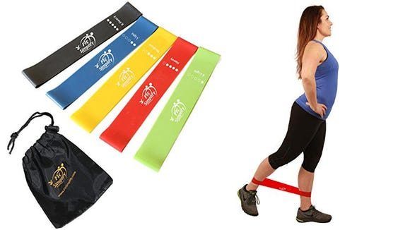 Bring these resistance bands when you're traveling for workouts on the go.
