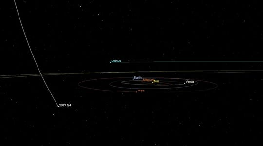 The comet, left, will make its closest approach to Earth in December.