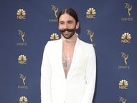 Sep 17, 2018; Los Angeles, CA, USA; Jonathan Van Ness arrives for the 70th Emmy Awards at the Microsoft Theater. Mandatory Credit: Dan MacMedan-USA TODAY (Via OlyDrop)