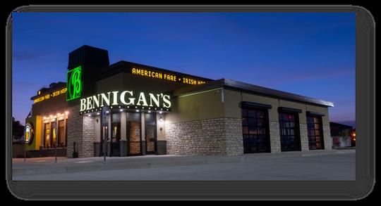 New Bennigan's restaurants are smaller than the originals.