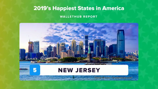 Believe it or not, a new report from WalletHub says New Jersey is the fifth-happiest state in America.