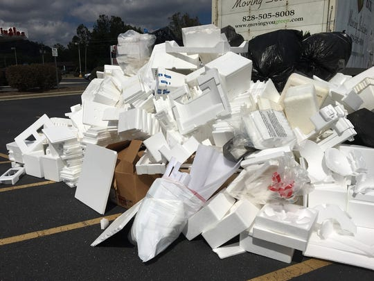 Styrofoam collected at a prior Hard 2 Recycle event