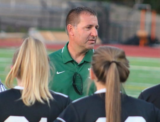 Klahowya girls soccer coach Troy Oelschlager and the Eagles finished third at the Class 1A state tournament in 2018.