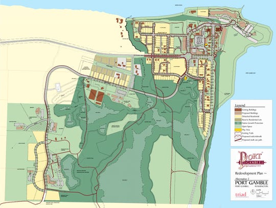 A view of one version of conceptual plans for Port Gamble.