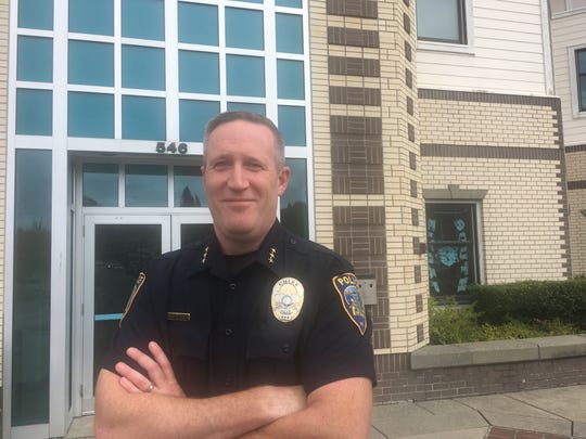 Port Orchard's new Police Chief Matt Brown, 44, has been in law enforcement for 19 years and most recently was deputy chief for the city of Poulsbo. His first day on the job was July 8, 2019.