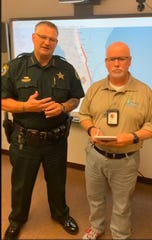 Brevard County Sheriff Wayne Ivey and Brevard County Communications Director Don Walker appear on a joint Facebook Live update on Sept. 2, related to Hurricane Dorian.