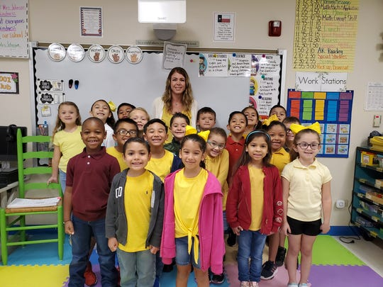 Misty Johnson's first grade class at Barnes Elementary School in Corpus Christi.