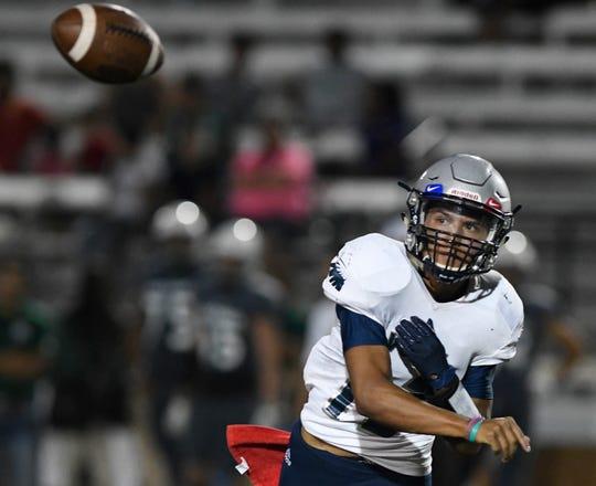 King High School faces Veterans Memorial, Thursday, Sept. 12, 2019, at Buc Stadium.