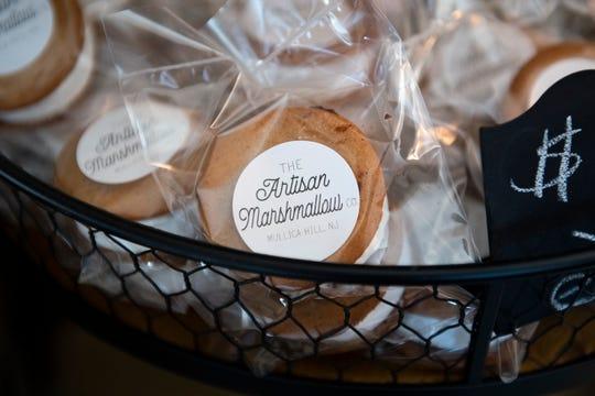 Marshmallow treats on display inside The Artisan Marshmallow in Mullica Hill, N.J.
