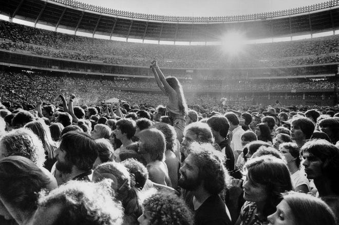 AUGUST 16, 1978: Riverfront Stadium's first rock concert.