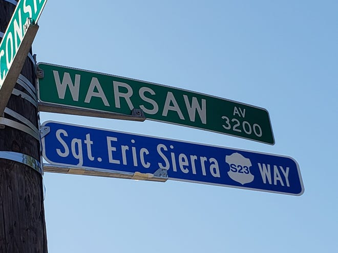 Sgt. Eric Sierra Way was named Friday.
