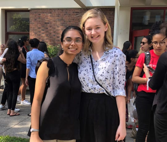 """Mount Saint Mary Academy junior, Tara Dsilva with roommate Keara Toop, attended the """"Leadership and the Future of Science, Technology, and Medicine"""" course at Brown University's Leadership Institute for two weeks."""