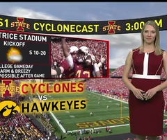 The latest WHO-HD forecast video: Your Cy-Hawk game day forecast