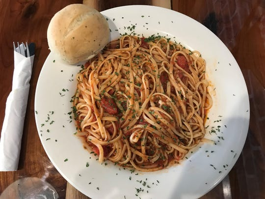 Nann's Linguine at Coco & Nini's in Carlisle is tossed in a chunky tomato, basil and garlic sauce.
