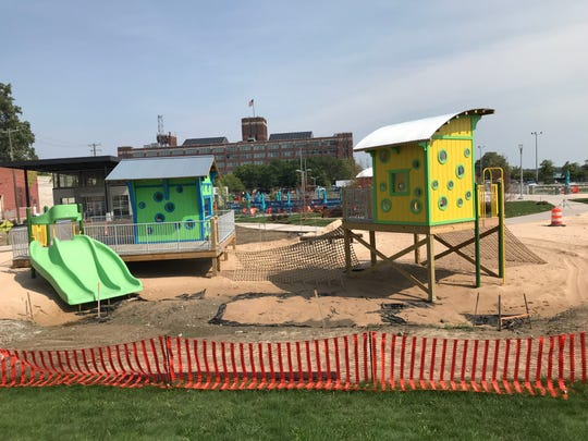 The playful design of children's climbing stations at the soon-to-open Robert C. Valade Park, formerly called Atwater Beach, along the RiverWalk shows how good design can be both artful and sturdy at the same time.