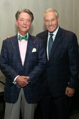 Lawrence J. Burns (left) and Mickey Redmond at the inaugural Jamie Daniels Foundation Roast.