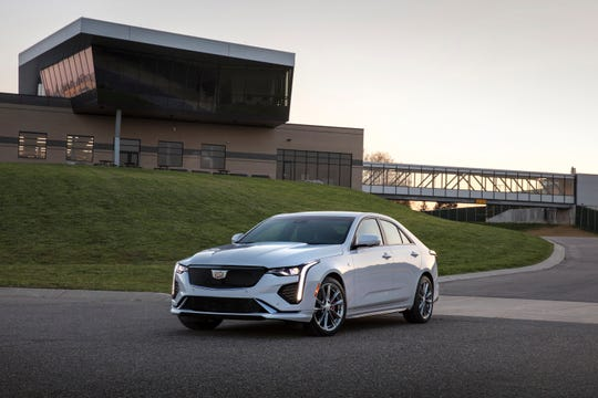 The Cadillac 2020 CT4 Sport model is differentiated by darker accents and performance-inspired details.