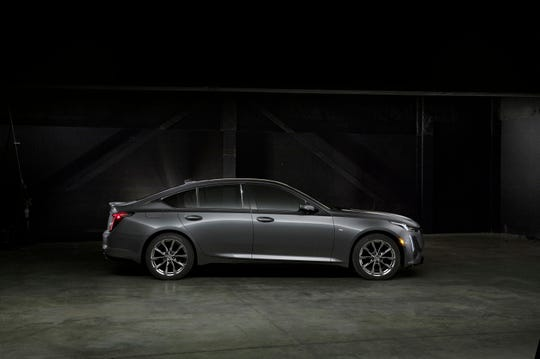 The Cadillac CT5 Sport's styling accentuates the performance, efficiency, precision and technology of the vehicle.