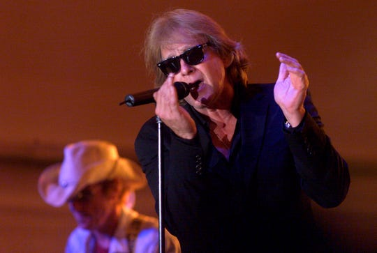 Eddie Money performs during Grandstand Under the Stars at the Diamond Jo Casino in Dubuque, Iowa in 2004. via AP)