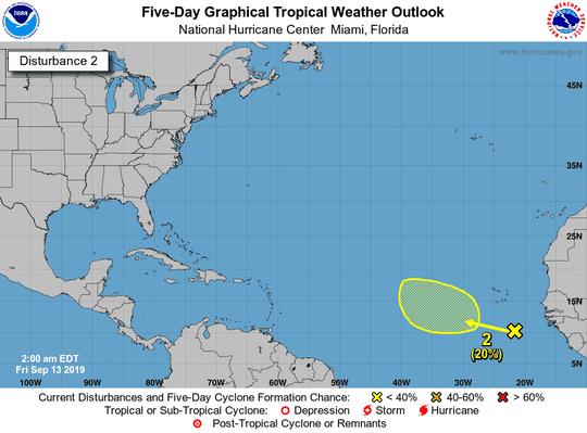 Tropics 2 a.m. Sept. 13, 2019