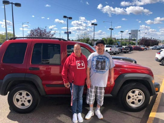 Lithia Chrysler Jeep Dodge of Great Falls donated a 2007 Jeep Liberty to Phil and Irene Rocchi after staff members read an article about them in the Tribune. The Rocchi's only reliable vehicle was stolen while Phil was at work last Thursday.