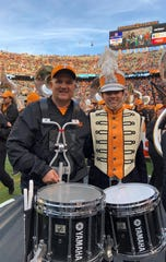 For the past three years Doug McKay and his son John, now a senior at UT, have had the pleasure of marching together with the Pride of the Southland Band during homecoming.