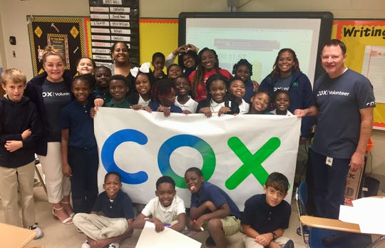 Cox Communications employees drove throughout Acadiana on Aug. 23, 2019 to deliver more than $8,000 to teachers through Cox Charities Community Investment program, which is funded by employees. In Acadiana, more than 50 teachers applied for funding in the grant cycle.