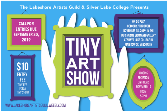 The 2019 Tiny Art Show is coming up soon at Silver Lake College of the Holy Family in Manitowoc.