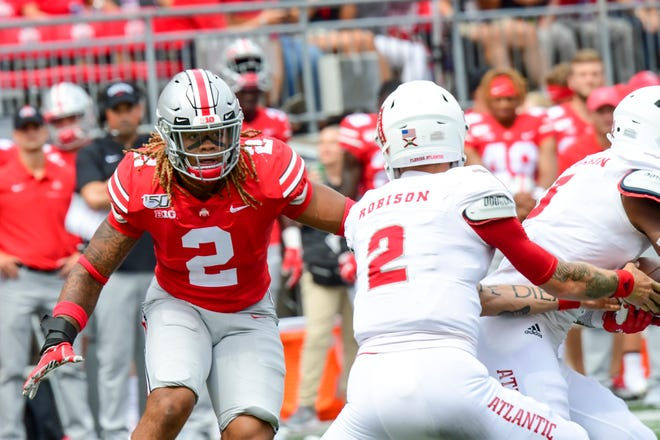 Ohio State defensive end Chase Young is living up to preseason All-America acclaim with three sacks and a blocked field goal in the first two games.