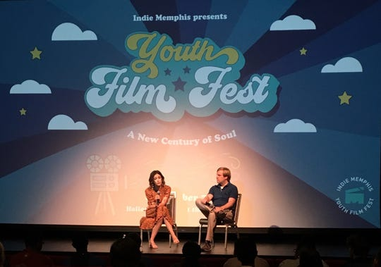 """Bluff City Law"" star Caitlin McGee and Indie Memphis Executive Director Ryan Watt discuss acting and more in a public talk at the Halloran Centre during the Indie Memphis Youth Film Fest."