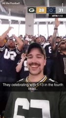 Kevin Speigl's image from the Oct. 8, 2017 Packers-Cowboys game became an internet sensation.