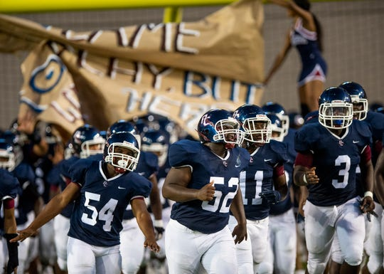Park Crossing takes the field against Dothan at Cramton Bowl in Montgomery, Ala., on Thursday September 12, 2019.