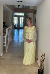 Margie McGlynn in her maid of honor dress today