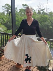 Jackie Frodsham in the skirt today