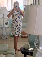 Suzi Barton with her 'happy dress'